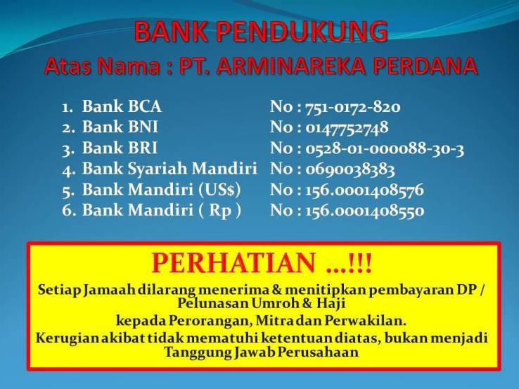 BANK PENDUKUNG