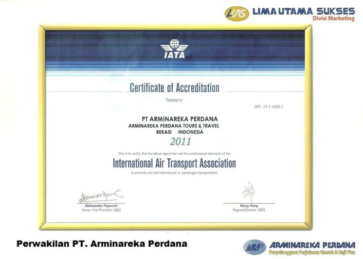 Legalitas-Arminareka-Perdana-Sertifikat-IATA